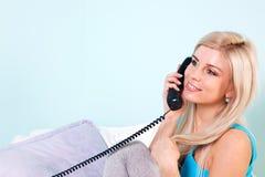 telefoniczna kobieta Zdjęcia Stock