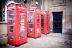 Telefoniczne kabiny Fotografia Stock