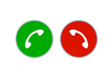 Telefoniczny słuchawki guzik Zdjęcie Royalty Free