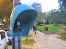 Telefoniczny społeczeństwo na parku Zdjęcia Royalty Free