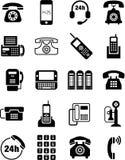 Telefonikonen Lizenzfreies Stockfoto