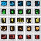 25 Telefonikonen Lizenzfreies Stockfoto
