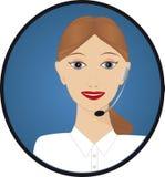Telefonista del servicio de atención al cliente Imagen de archivo