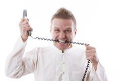 Telefonista infuriarsi Immagine Stock Libera da Diritti
