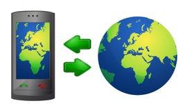 Telefonkommunikationen lizenzfreie abbildung