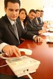 Telefonkonferenz.   stockfotos