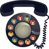 Telefonkonferenz Stockbild