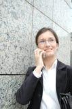 telefonkvinna arkivbild