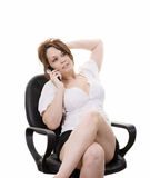 telefonkvinna Royaltyfri Bild