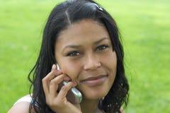 telefonkvinna Royaltyfria Foton
