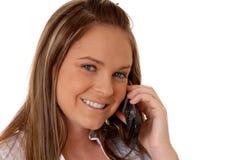telefonkvinna för brunett 16 Royaltyfri Bild