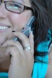 telefonkvinnor Arkivbilder