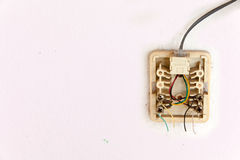 Telefonleitungen werden getrennt lizenzfreie stockfotografie