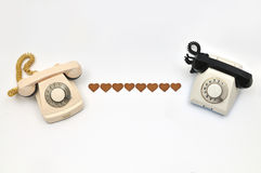 Telefonliebe Stockfotografie