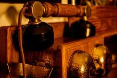 Telefonlur av gamla föråldrade telefoner royaltyfria foton