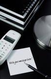 Telefonmeldung Stockfoto