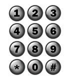 Telefonnummer-Schlüsselauflage Stockfotografie