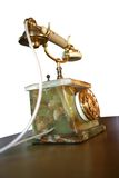 Telefono_9848. Antique telephone with a marble base and revolving disc royalty free stock photos