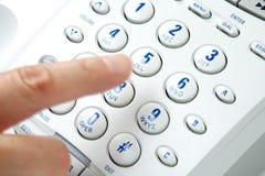 Telefono analogico di composizione Immagini Stock