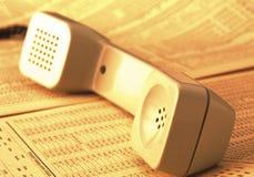 Telefono antico Fotografie Stock