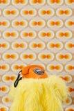 Telefono arancione Fotografia Stock Libera da Diritti