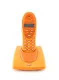 Telefono arancione Immagini Stock