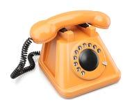 Telefono arancione Fotografia Stock