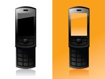 Telefono arancione delle cellule Fotografia Stock