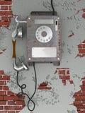 Telefono arrugginito di vecchio stile Fotografia Stock Libera da Diritti