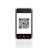 Telefono astuto con il codice a barre Fotografia Stock