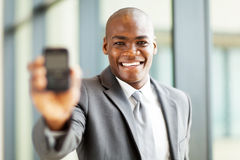 Telefono astuto dell'uomo d'affari Immagine Stock Libera da Diritti