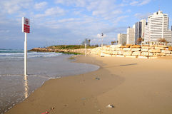 Telefono Aviv Beach Immagine Stock