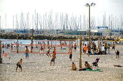 Telefono Aviv Beach Scene Immagine Stock