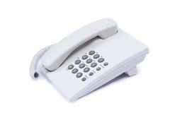 Telefono bianco Immagini Stock