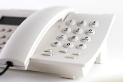 Telefono bianco Fotografia Stock
