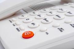 Telefono bianco Immagine Stock