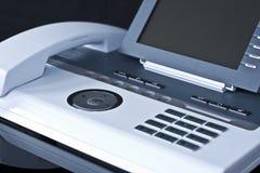 Telefono bianco alla moda dell'ufficio Fotografia Stock Libera da Diritti