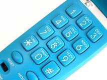 Telefono blu Immagini Stock Libere da Diritti