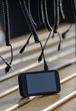 Telefono cellulare che carica batteria Immagine Stock Libera da Diritti