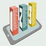 Telefono cellulare con l'insegna creativa di opzioni di numero, Fotografia Stock Libera da Diritti