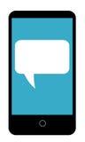 Telefono cellulare con la bolla di conversazione royalty illustrazione gratis