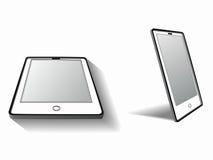Telefono cellulare della siluetta, tiraggio di vettore Immagini Stock Libere da Diritti