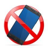 Telefono cellulare di proibizione Immagini Stock