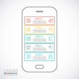 Telefono cellulare di vettore per infographic Fotografia Stock Libera da Diritti