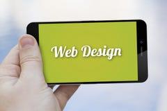 Telefono cellulare di web design Fotografie Stock Libere da Diritti