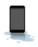 Telefono cellulare impermeabile Fotografia Stock Libera da Diritti