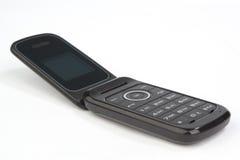 Telefono cellulare mobile delle cellule di vibrazione su bianco Fotografia Stock Libera da Diritti
