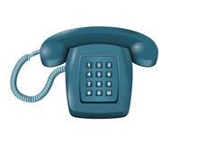 Telefono classico della linea terrestre DMTF sul vettore bianco Illustrazione Vettoriale