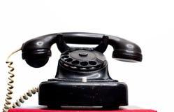 Telefono con fili fisso d'annata della terra Immagini Stock