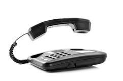 Telefono con il microtelefono di galleggiamento fotografia stock
